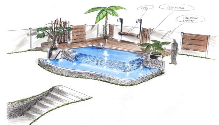 projet piscine debordement